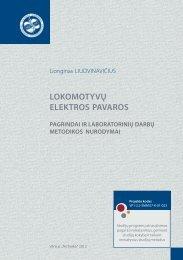 lokomotyvų elektros pavaros - Vilniaus Gedimino technikos ...