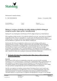 Revisjon av forskrifter om jakt, fangst og fiske på statgrunn - Statskog