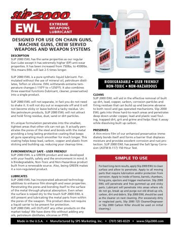 Product Information Sheets - SLiP2000™ Gun Lubricants and ...