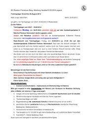 SG Rotation Prenzlauer Berg, Abteilung Handball E/D/C/B/A-Jugend