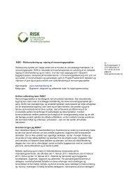 RISK – Risikovurdering og –styring af ... - Ejendomsviden