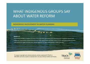 3.2 What Indigenous groups say about water reform.pdf - TRaCK ...