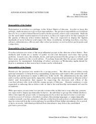 School District of Altoona - 370-Rule – Page 1 of 11