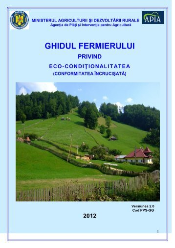 Ghid eco-conditionalitate - APIA Gorj