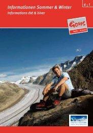 Ihr Aufenthalt im Aletsch/Goms - Goms Tourismus