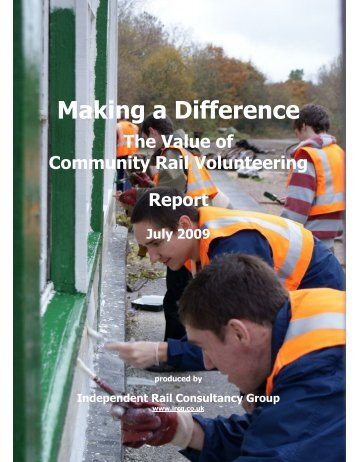 Making a Difference - Association of Community Rail Partnerships