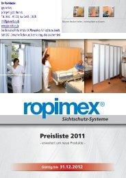 Preisliste 2011 - Sichtschutz - Systeme