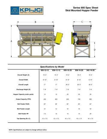 Series 900 Spec Sheet Skid Mounted Hopper Feeder - KPI-JCI