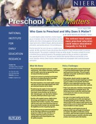 Who Goes to Preschool and Why Does It Matter? - Plan4Preschool