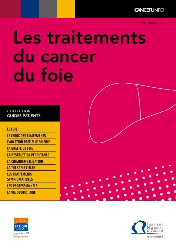 Les traitements du cancer du foie - Institut National Du Cancer