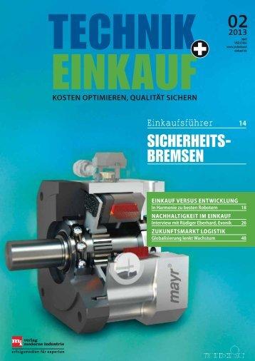 Ausgabe 2 /2013 - technik + EINKAUF