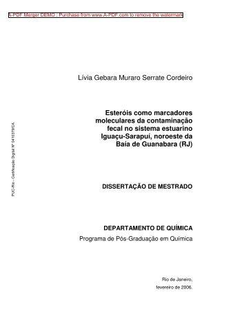 Lívia Gebara Muraro Serrate Cordeiro Esteróis ... - NIMA - PUC-Rio