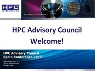 HPC Advisory Council activities - Barcelona Supercomputing Center