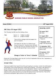 Upcoming events - Quirindi Public School
