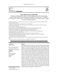 Rare Birds in Iran in 1980−2010 - Ornithological Society of the ...