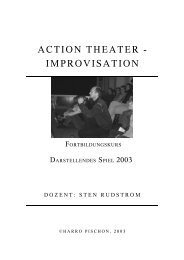 ACTION THEATER - IMPROVISATION  - Landesarbeitsgemeinschaft ...