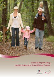 Annual Report 2009 - Health Protection Surveillance Centre