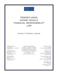 pennsylvania motor vehicle financial responsibility law - Margolis ...