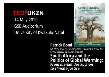 South Africa and the Politics of Global Warming - Centre for Civil ...