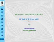 Heracliti Ephesii Fragmenta - Equivalences.org