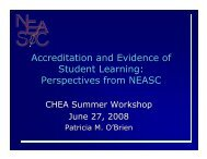 Accreditation and Evidence of Student Learning - Council for Higher ...