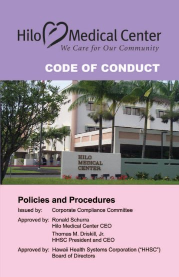 HMC Code of Conduct - Hilo Medical Center - Hawaii Health ...