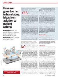 Have we gone too far in translating ideas from aviation to patient ...