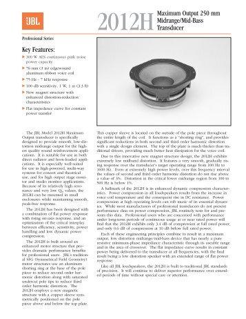 jbl sound system design reference manual part 2