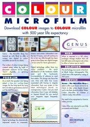 (024) 7625 4955 F: (024) 7638 2319 E - The Microfilm Shop