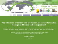 The Relevance of Carbon Free Production Processes for Car-bon ...