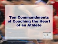 Ten Commandments of Coaching the Heart of an Athlete - ITCCCA