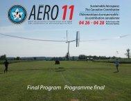 Technical Program - Canadian Aeronautics and Space Institute