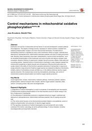 Control mechanisms in mitochondrial oxidative phosphorylation****