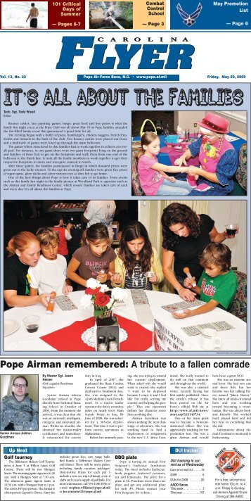 Pope Airman remembered - Pope Field - Home