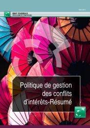 Politique de gestion des conflits d'intérêts - BNP Paribas Investment ...