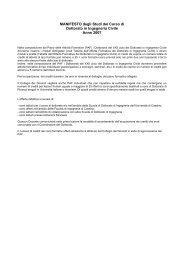MANIFESTO degli Studi del Corso di Dottorato in Ingegneria Civile ...