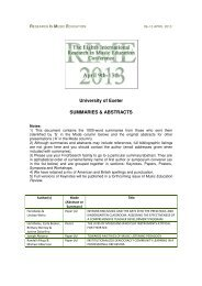 Summaries and Abstracts - College of Social Sciences and ...