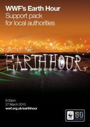 WWF's Earth Hour Support pack for local authorities - WWF UK