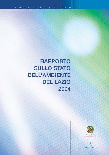 RAPPORTO SULLO STATO DELL'AMBIENTE DEL ... - Regione Lazio
