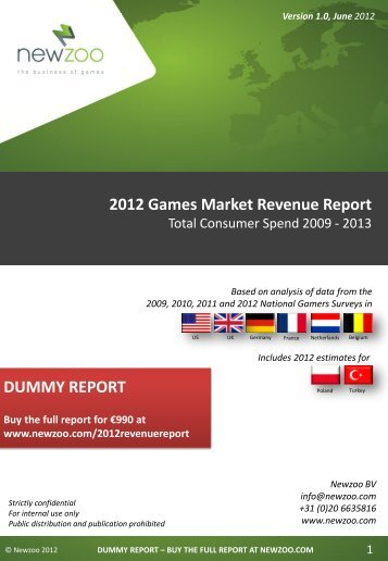 2012 Games Market Revenue Report - Newzoo