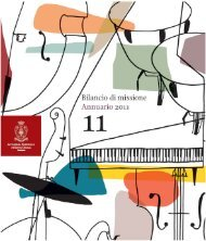 Visualizza il Bilancio di Missione - Annuario 2011 - Accademia ...