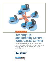 Keeping Up – and Keeping Secure – With Access ... - Network World