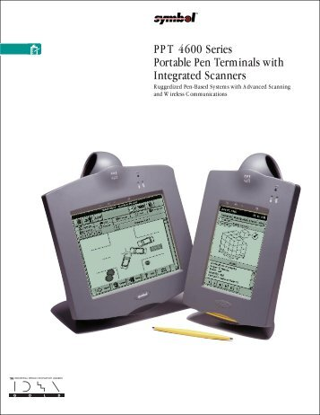 PPT 4600 Series Portable Pen Terminals with Integrated Scanners