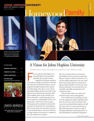 Fall 2009 - Parents Program | Johns Hopkins University