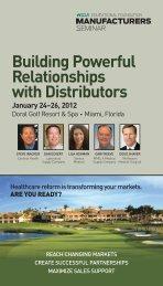 Building Powerful Relationships with Distributors January 24 ... - Hida