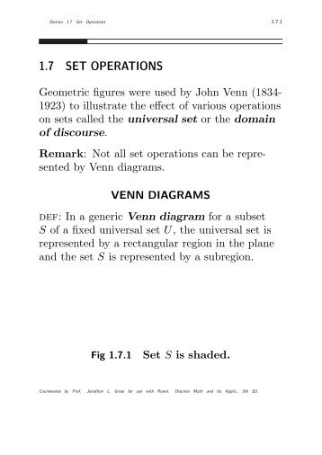 Mgf 1106 Section 23 Venn Diagrams And Set Operations