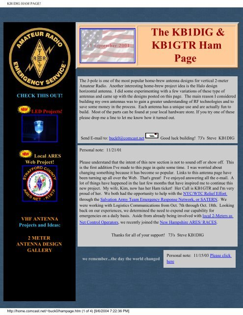 KB1DIG HAM PAGE! The KB1D