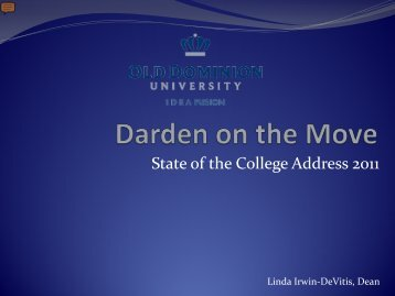 Darden Making a Difference - Darden College of Education