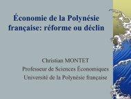 L'économie en Polynésie française