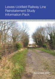 Lewes-Uckfield Railway Line Reinstatement Study Information Pack